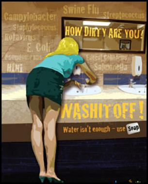 Nie bądź brudasem - myj ręce!