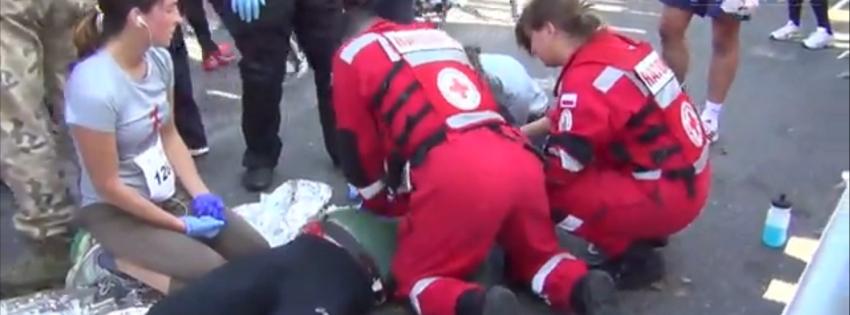 Reanimacja na trasie biegu Biegnij Warszawo 2013