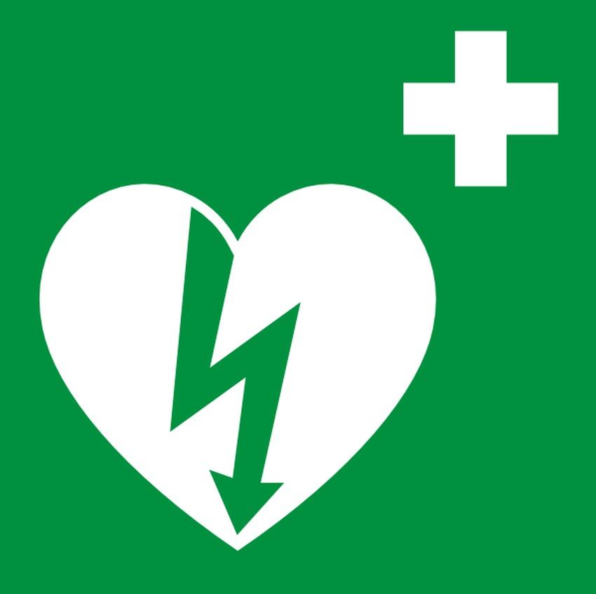 Oznaczenie defibrylatorów automatycznych AED