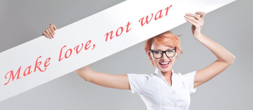 War, love, love, war...?