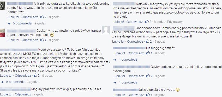 Komentarze ratowników